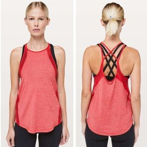 NWT Lululemon Run Off-Route Tank True Red